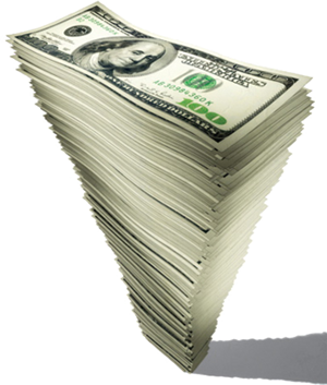 money stacked